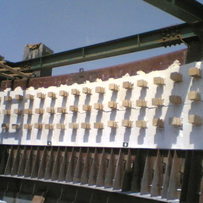 Refractory - Anchor brick application